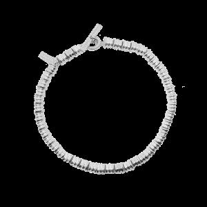 Bracciale Dodo Mariani con elementi conchiglie rigate in argento 925°/°° Made in Italy.