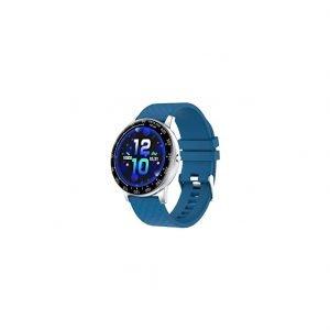 Orologio Smarty Watches SW008C uno Smartwatch unisex, adatto per uomo e donna con funzioni benessere, sport, mobile e orologio. Display TFT 1.3 pollici. Cassa in abs di colore argento dimensioni 42 mm, spessore 12 mm. Cinturino in silicone di colore blu regolabile 140-260 mm con chiusura ad ardiglione. Smarty watch è sempre piu smart, le sue funzioni sono molteplici, un vero è proprio smartwatch da indossare al polso in qualsiasi momento: funzioni benessere anti stress, sensore cardio da polso, con misurazione ossigeno e pressione sanguinea, controllo del sonno. L'orologio Smarty ha inoltre funzioni per lo sport: contapassi, consumo calorie, promemoria consumo acqua, supporto per camminata, corsa, bici, calcio, basket, rilevazione del percorso, meteo, effetto illuminazione. Gli smartwatch IP67 sono a prova di polvere e possono resistere ad immersioni in acqua ferma max 1 metro, per un tempo limite di 30 minuti, inoltre non è idoneo per nuotare o fare la doccia, sconsigliato l'uso a contatto con vapori o acqua calda. Collegamento con app per sistema Android 5.1 / Apple superiore IOS 8.0. Cavo per ricarica. Durata batteria in standby 30 giorni, in uso normale circa 5-7 giorni.