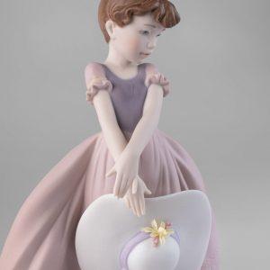 Figurina LLadrò in porcellana opaca decorata, Edizione limita Primavera 2021. Made in Spain