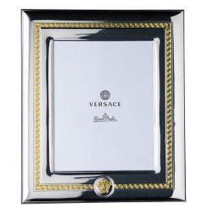 Portafoto in Argento e Oro Greca e Medusa 20X25, Versace Rosenthal.