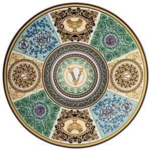 Piatto in Porcellana Versace Rosenthal, decoro Barocco Mosaic cm 33.