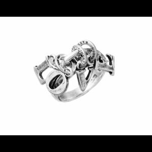 Anello Charms Love Giovanni Raspini, in argento 925% Made in Italy. Disponibile dalla misura 10 alla 20.