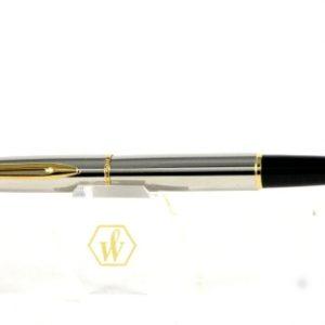 Roller Waterman S:light cromata con particolari dorati