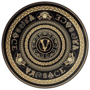 Piatto in porcellana Rosenthal Versace, segnaposto 33 cm.