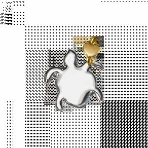 Ciondolo Tartaruga Dodo Mariani Disponibile in argento 925°/°° con contromaglia cuoricino in oro 9 kt